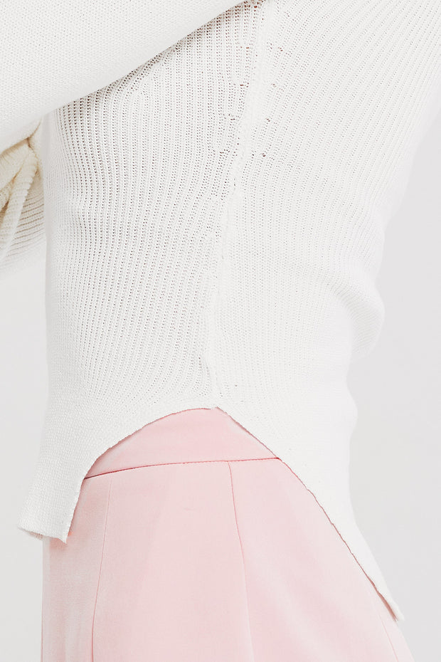 Clara Bustier Ribbed Knit Top