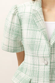 Demi Plaid Structured Blazer