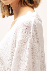 Sarah Boucle Knit Crop Sweater
