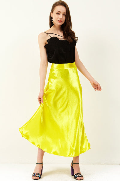 Dolly Satin Maxi Skirt