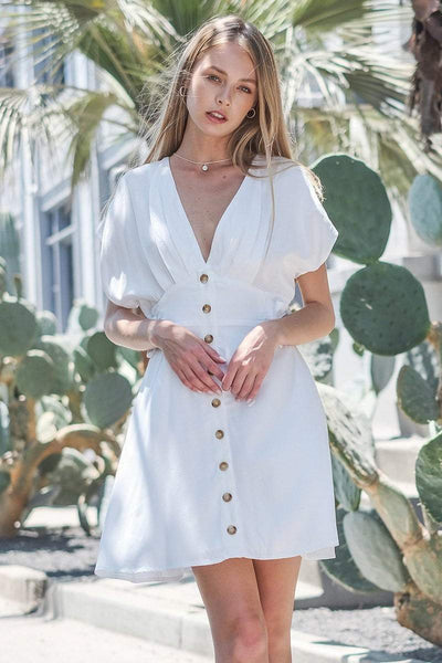 DOUBLE ICON - GAME OF LOVE DRESS - WHITE - Shop Double Icon