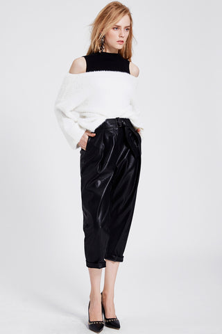 Marie Leather Jogger Pants