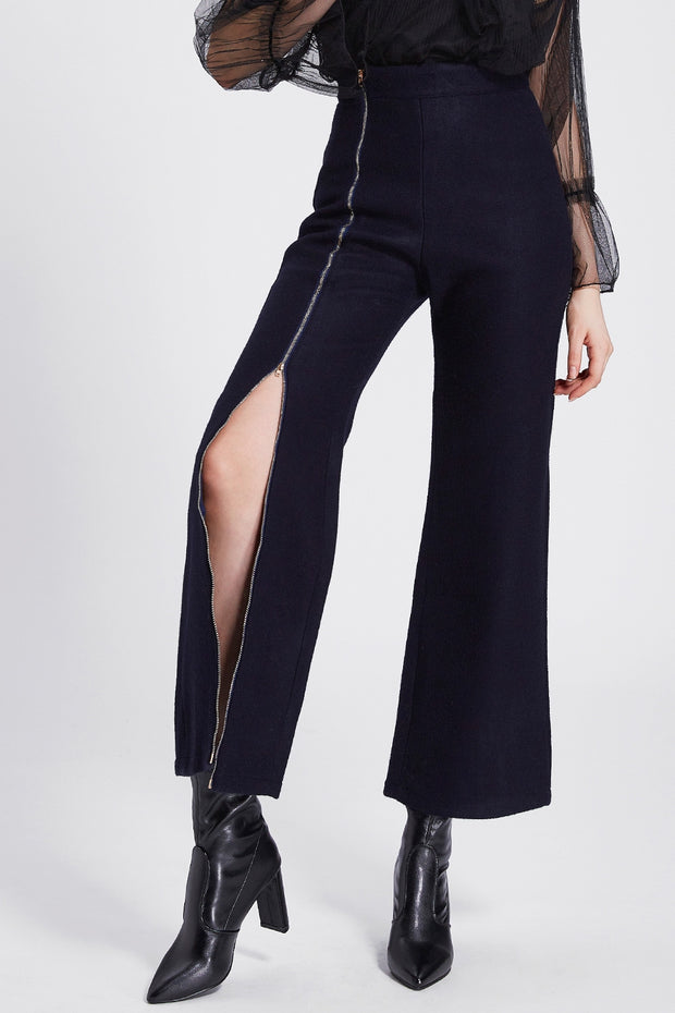 Irene Slit Zipper Long Pants