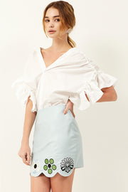 Molly Flower Wave Edge Skirt