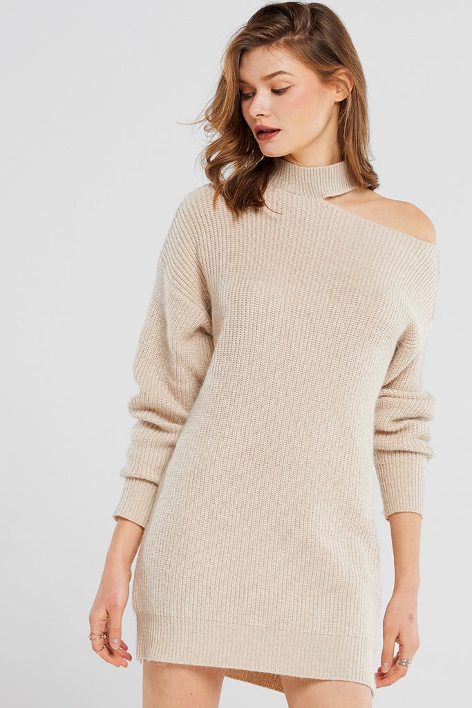 Erica Cut-out Knit Mini Dress