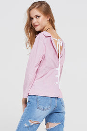 storets.com Eva Striped Jacket Style Top