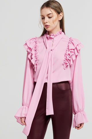 Bella Detachabled Tie Blouse