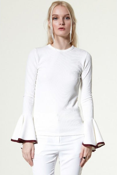 Gwen Wide Cuff Knit Top