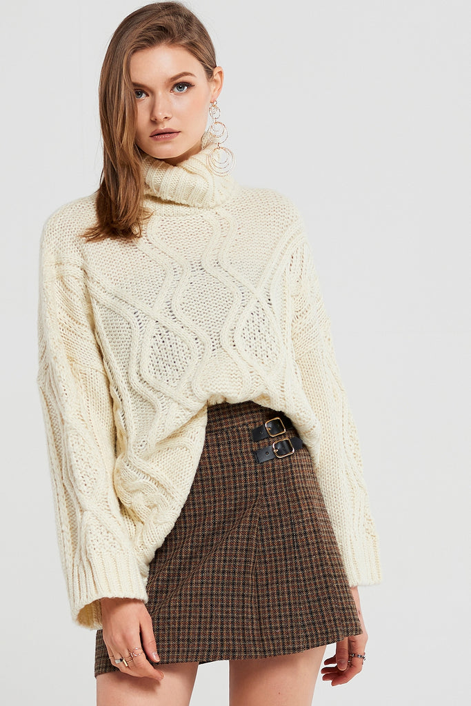 Isabel Oversized High Neck Pullover