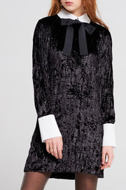 Jane Velvet Dress With Tie