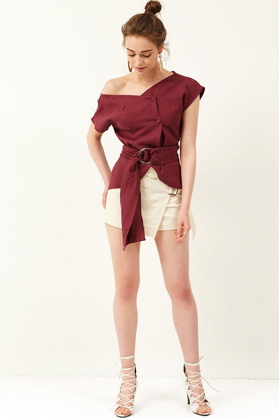 Jena Belt Wrap Shorts