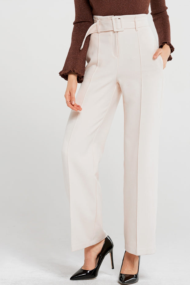Jo high wais pants with belt