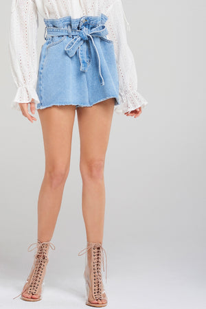 Katie Belt Denim Shorts
