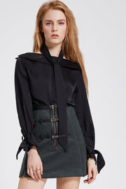 storets.com Agatha Belted Zipper Skirt