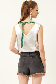 Lyn Back Belted Top