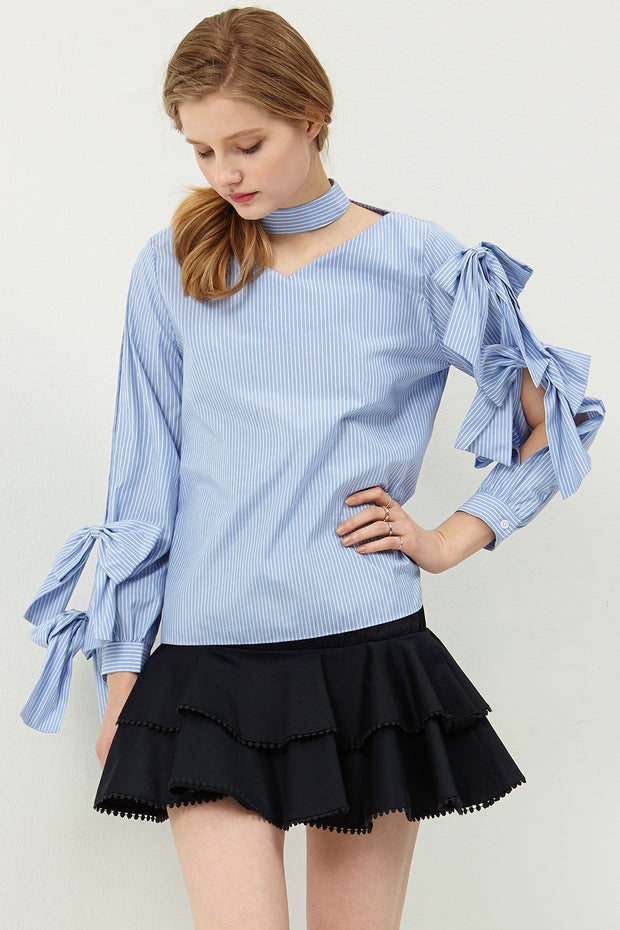 Ivy Chocker-neck Blouse
