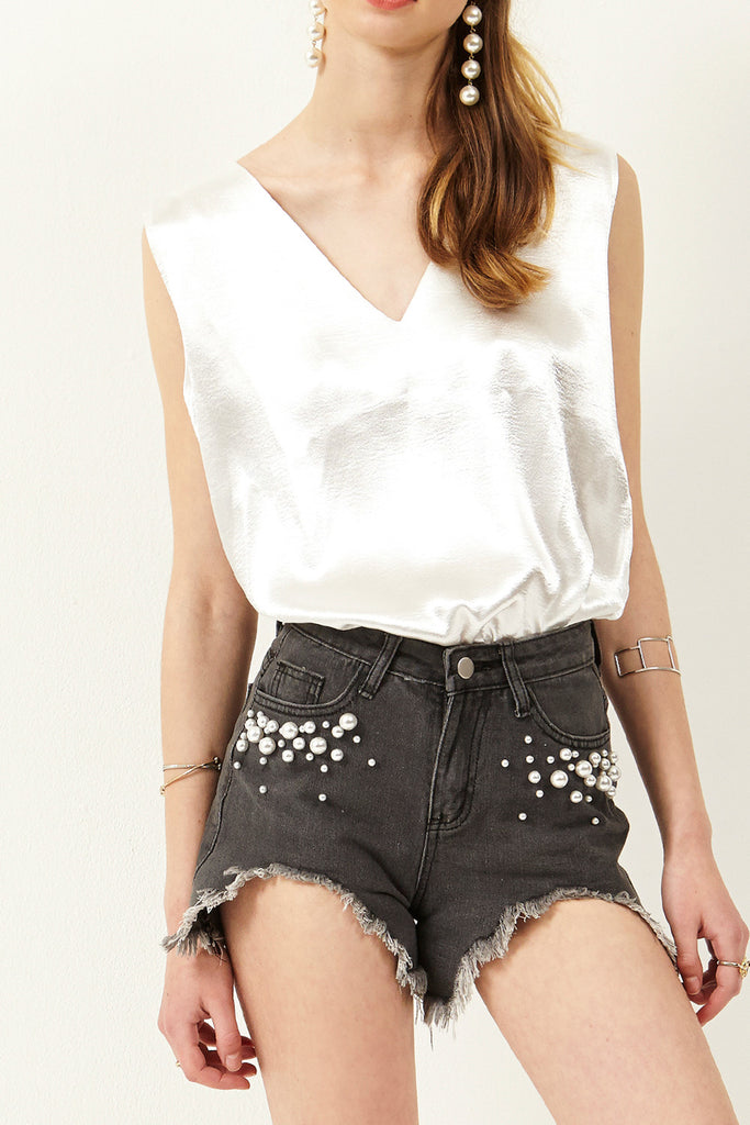 Lenna Front Pearl Short