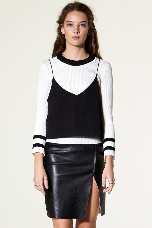 Lea Leather Midi Skirt