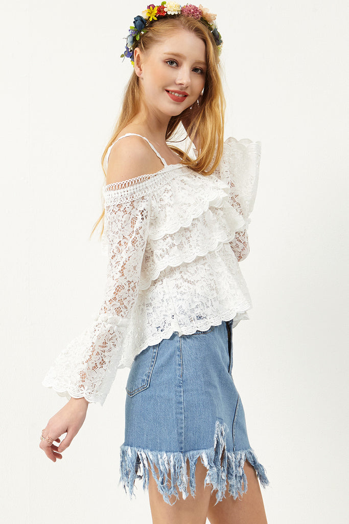 Isla Fringe Denim Skirt