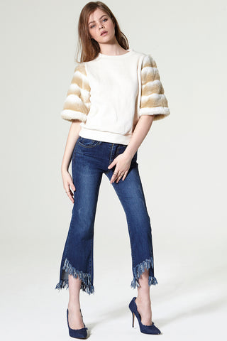 Shu Cut Out Fray Jeans