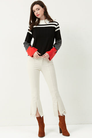 Alia Pintuck Slit Pants
