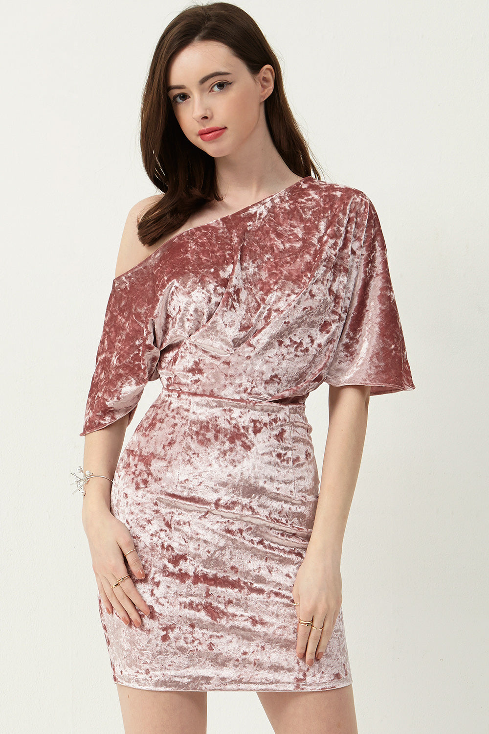 Alex Coldshoulder Velvet Dress