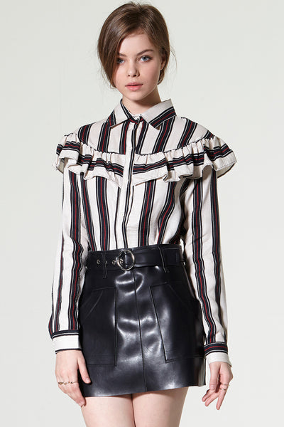 storets.com High Society Ruffled Shirt