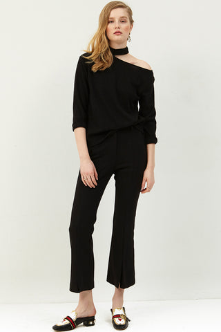 Lynn Pintuck Slit Pants