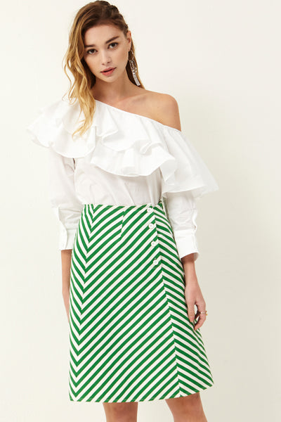 Emile Stripe Skirt