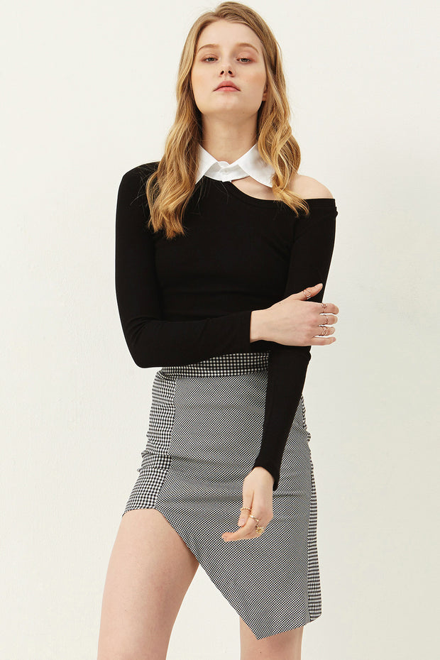 Linda Check Plaid Skirt