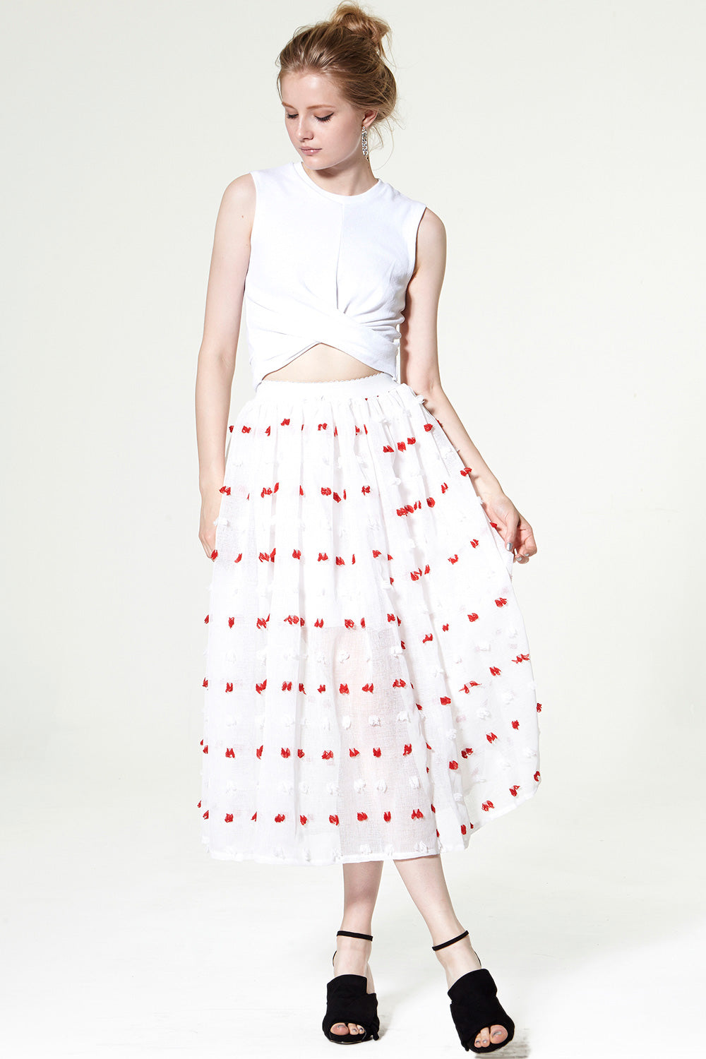Lolita Frayed Gauze Skirt