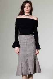 Lyna Check Mermaid Skirt