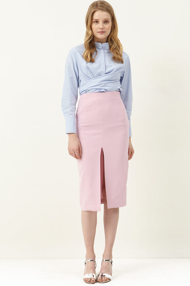 Marie Front Slit Pencil Skirt
