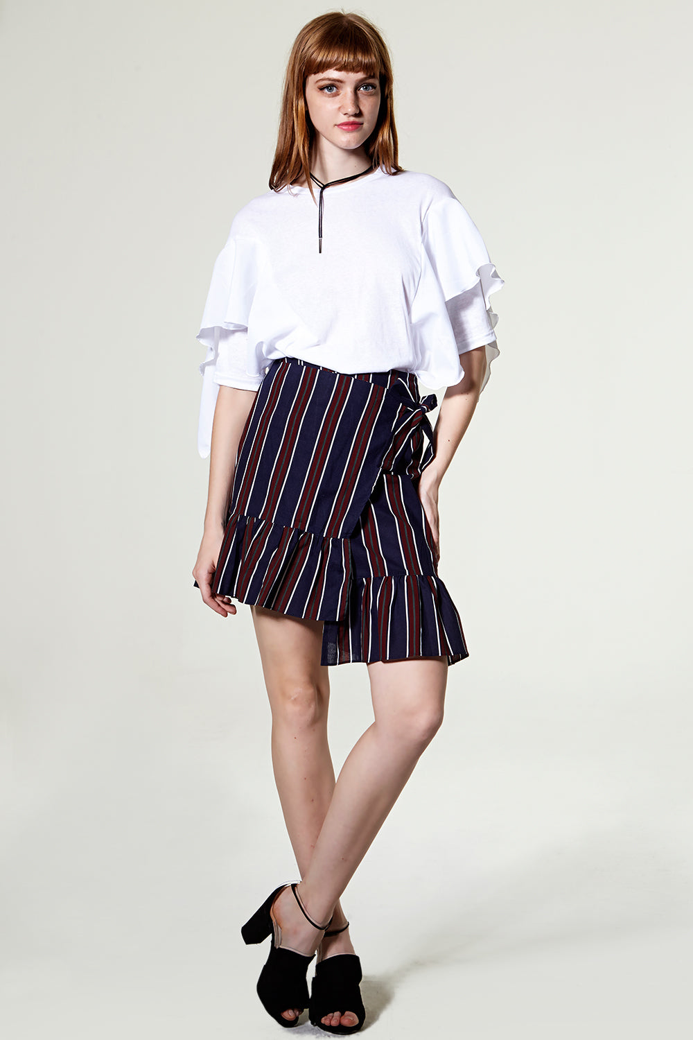 Hellen Unbalanced Wrap Skirt