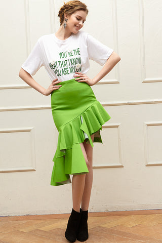 Molly Unbalance Ruffle Skirt