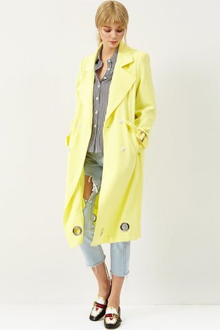 Lisaberi Eyelet Trench Coat
