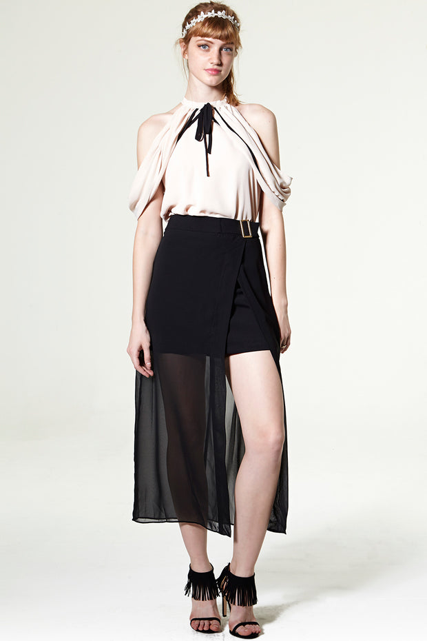 Nadia Overlay Sheer Skirt