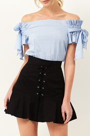 storets.com Ruth Ribbon Off-the-Shoulder Blouse