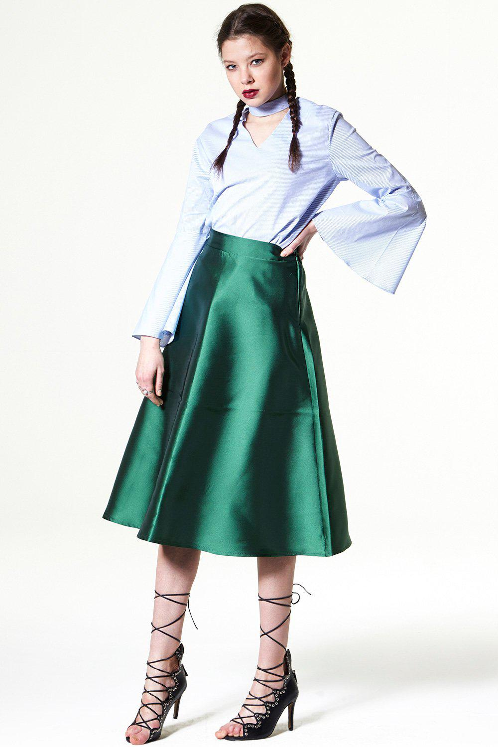 Got Crushed On Satin Skirt