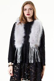 Go West Fringed Faux Fur Vest