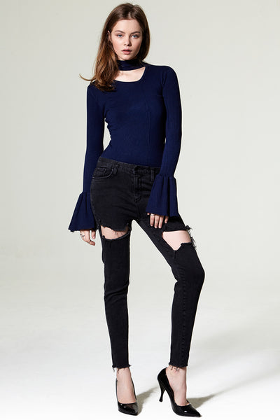 Macy Thigh Cut Out Jeans