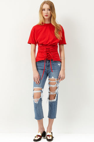Citlalli Lace-up Top