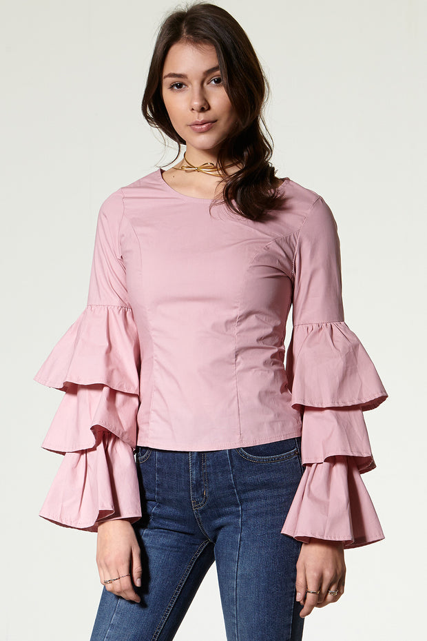 storets.com Sanna Layered Sleeves Blouse