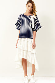 Fay Ribbon Stripe Top