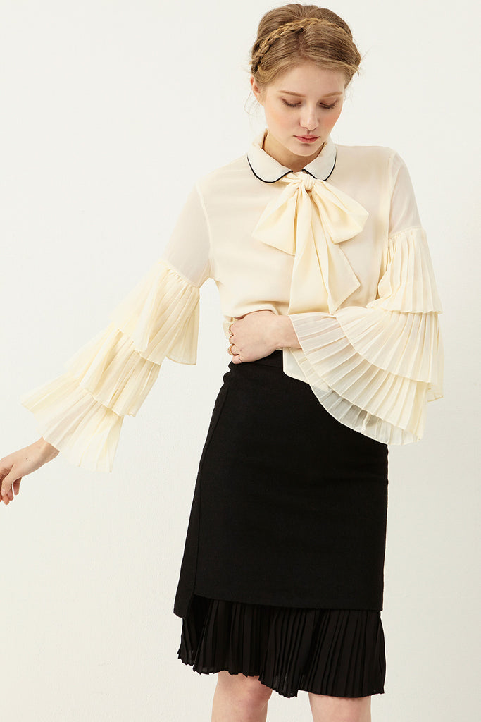 Emily Pleated Layered Skirt