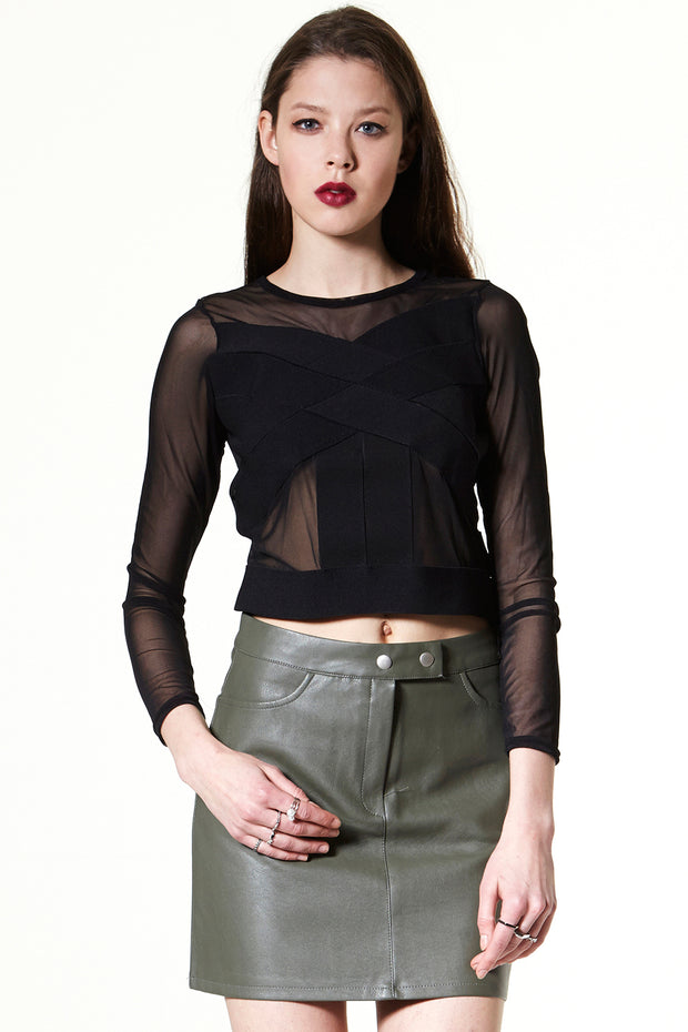 storets.com Rockin' Hard Vegan Leather Skirt