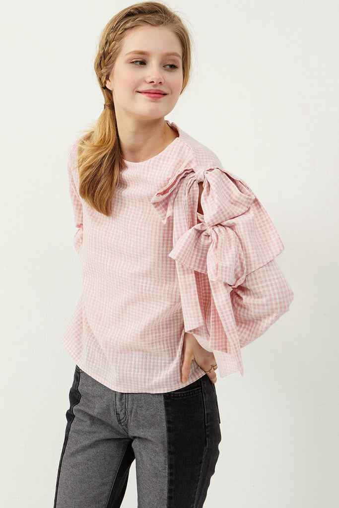 Avril Bow Embellished Blouse