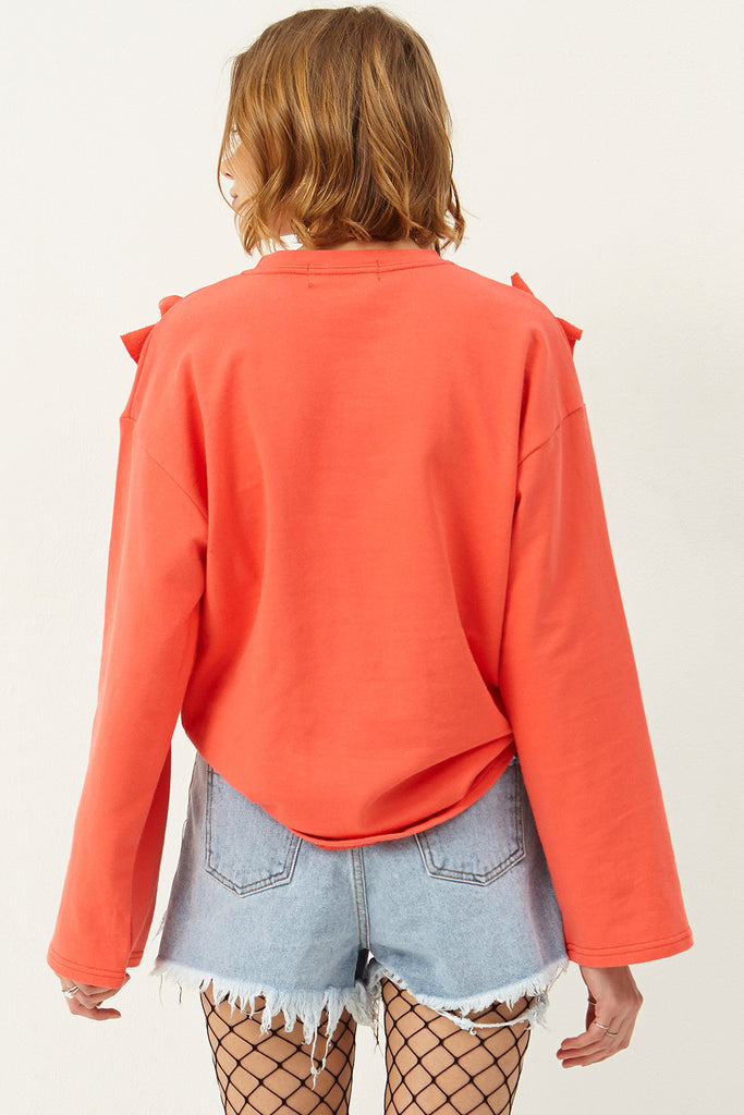 April Ruffle Sweatshirt