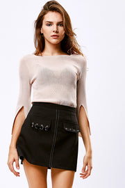 Mila Ring Pierced Mini Skirt