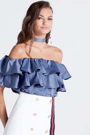 storets.com Olivi Silky Off-the-Shoulder Top